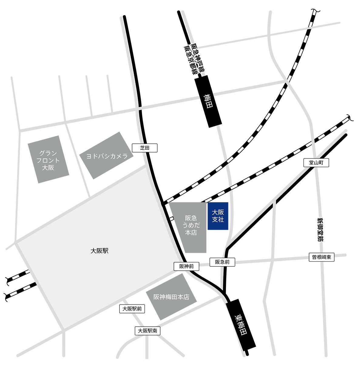 アルネッツ大阪支社地図